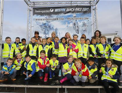 Primary School Students enjoy day out at HydroGarden Weston Beach Race