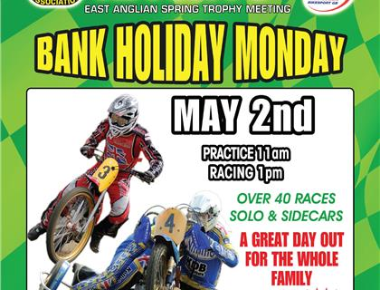 East Anglian Spring Trophy heads to Chelmsford on Bank Holiday Monday – 2nd May