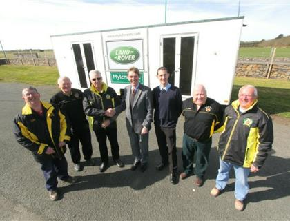 Mylchreest's Donate Caravan to Southern 100 Marshals