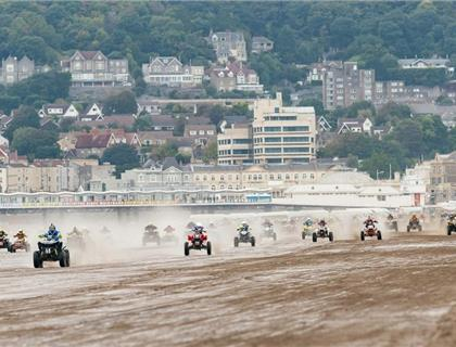 Guy Martin and David Knight Team Up to Compete Quad Class at Hydrogarden Weston Beach Race