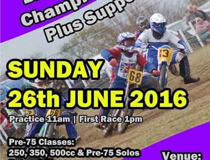 British Pre 75 Grass Track Championship heads to Pickering on Sunday 26th June