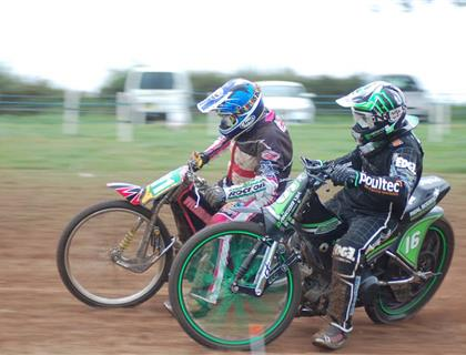 3 legs not out. British Grasstrack Championships