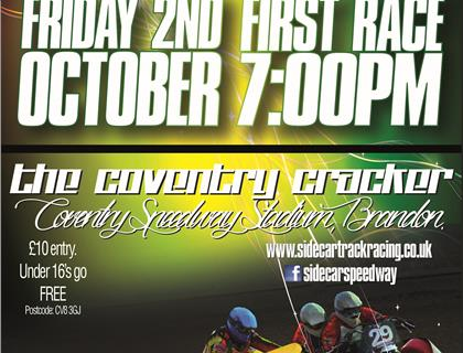 Coventry Cracker - Sidecar Speedway returns to Coventry on Friday 2nd October