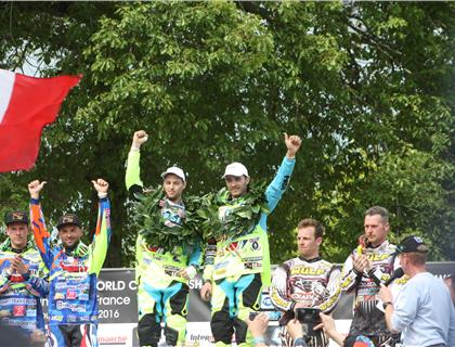 Brown and Chamberlain move up to second in World Sidecarcross Championship at Brou