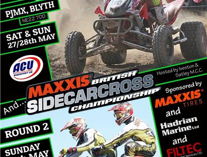 Round 2 Maxxis ACU British Sidecarcross Championship heads to Blyth this Weekend