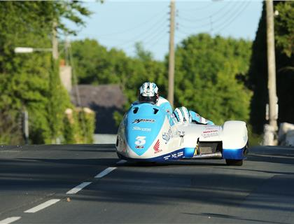 Holden/Winkle again top the TT Sidecar qualifying as Reeves/Farrance and Birchall/Birchall close gap