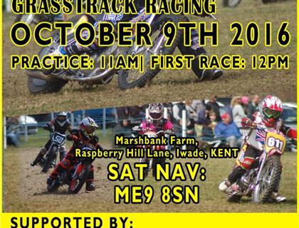 Kent Youth Grasstrack Racing Association - Iwade Youth Charity Grasstrack - 9th October