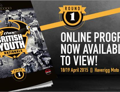 Thor British Youth Nationals round 1 programme available NOW!