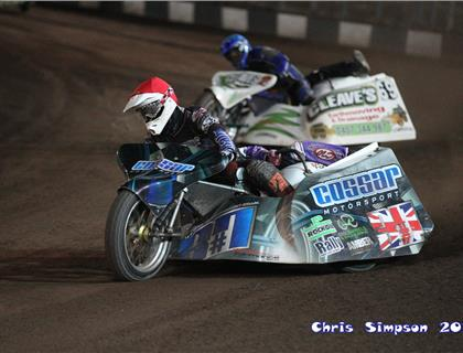 Cossar and Brown Claim Sidecar Speedway Shootout
