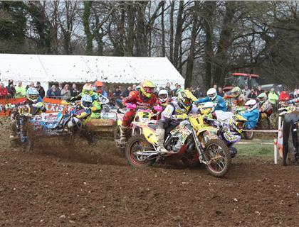 Brown and Chamberlain lead after the Maxxis ACU British Sidecarcross Championship opener