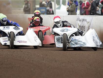Exhilarating 1000cc sidecar racing revs into action at Peterborough Arena (Rider Line-Up included)