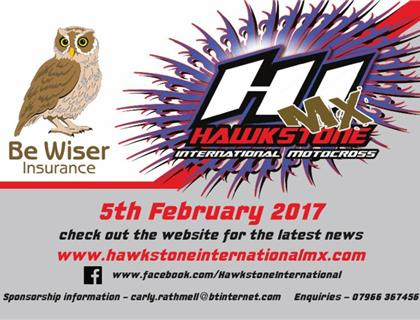 Be Wiser Hawkstone International Motocross this Sunday