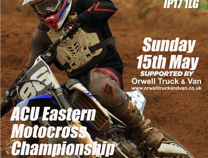ACU Eastern Motocross Championship heads to Blaxhall this Sunday