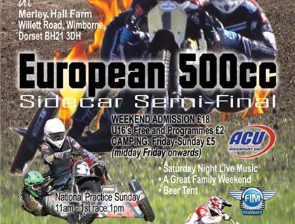European 500cc Sidecar Semi-Final Heads to Wimborne on June 4th.