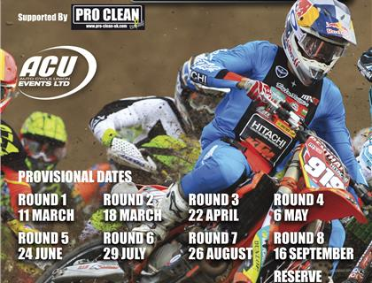 ACU Events Issue Revised Provisional Calendar for 2018 Maxxis ACU British Motocross Championship