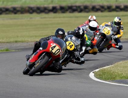 The Classic Racing Motorcycle Club Season Finale at Silverstone Circuit in Northamptonshire