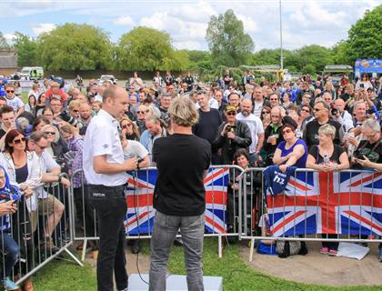 Fans flock to Donington Park to meet star riders ahead of Superbike World Championship