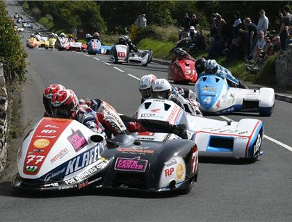 Watch History being made during the Southern 100 Sidecar Championship Race