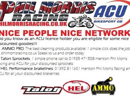 Good news for all ACU members from Phil Morris Racing