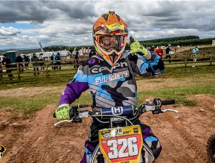 Wal Beaney – battling for 65cc glory in the Thor British Youth National Championship