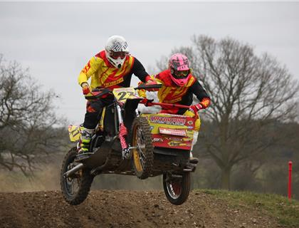 Oldfield/Barnes take the lead in Hadrian Marine ACU Sidecarcross Clubmans